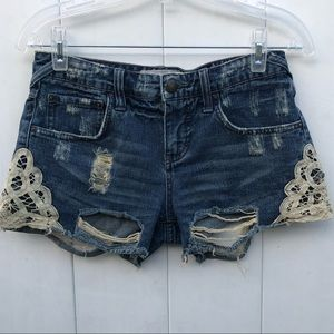 Free people size 24 women's distressed shorts!A169